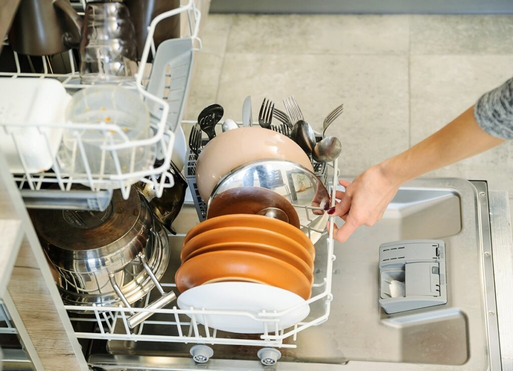front view dishwasher